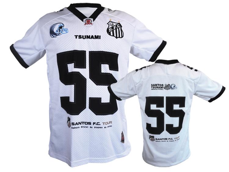 SANTOS FC CAMISA OFICIAL FUTEBOL AMERICANO – BRANCA  5f0526e22f800